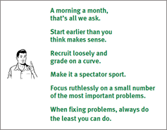 Six maxims for testing